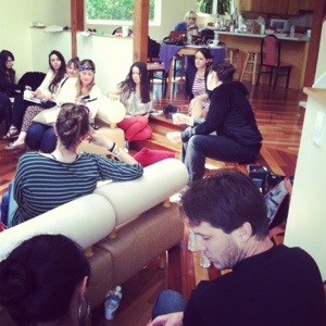 Chloe Aftel Lecture at a FeatherLove Artists Workshop